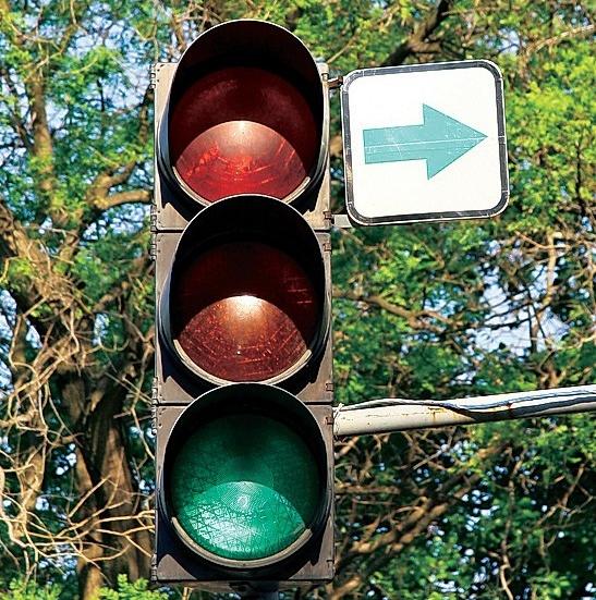 Нарисованные зеленые стрелки будут менять на светящиеся