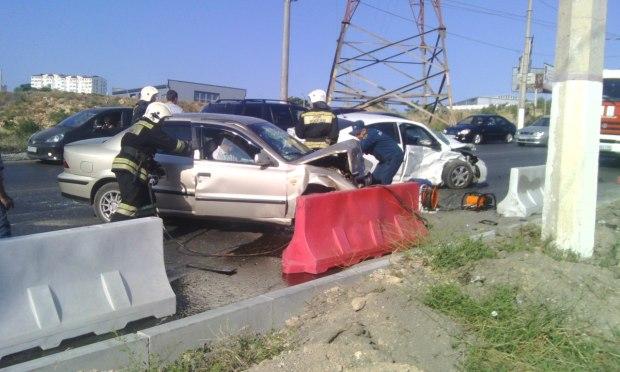 ДТП в Севастополе, утро 17 июля: две машины вряд ли подлежат восстановлению