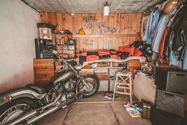 Гараж для мотоциклов своими руками