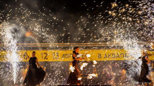 В Коктебеле стартовал второй фестиваль огненных театров «Крым Fire-fest»
