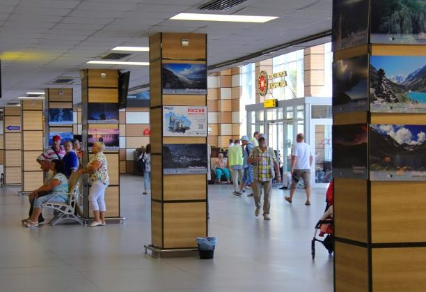 В аэропорту Симферополя презентовали выставку «Россия — любимая страна»
