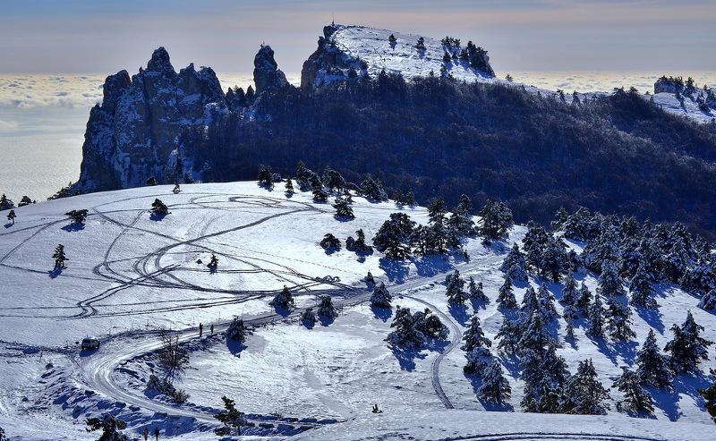 «Горную» Масленицу на Ай-Петри отменили из-за растаявшего снега